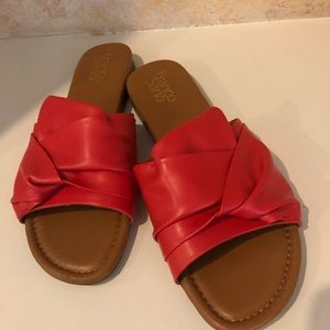 Franco Sarto Sandals Tomato Orange Comfy Size 9